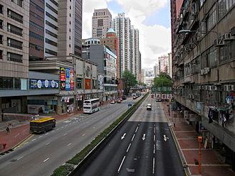 Castle Peak Road - Castle Peak Road in Tsuen Wan.