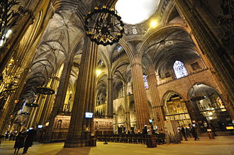 Barcelona Cathedral -  View of the cathedral interior