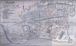 Cebu City - A 19th-century map of Cebu City
