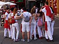 Celebrants at San Fermin Festival - Pamplona - Navarra - Spain (14606791825).jpg
