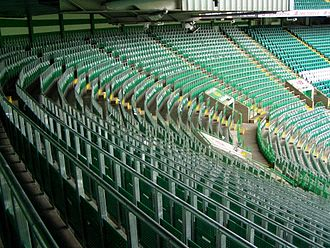 Celtic Park - Rail seating at Celtic Park