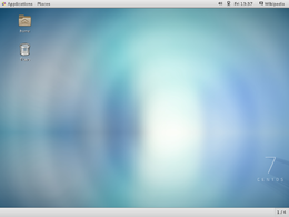 Screenshot di CentOS con GNOME