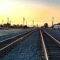 Central Valley sunset. -chowchilla -railroad -tracks (14841197006).jpg