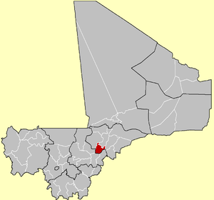 Location of the Cercle of Djenné in Mali