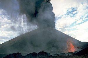Cerro Negro - Eruption of Cerro Negro in 1968