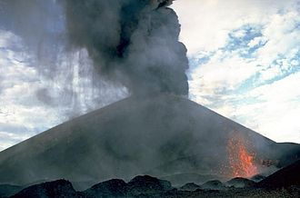 Cerro Negro - Eruption of Cerro Negro in 1968