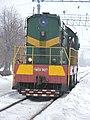 ChME3-3627 locomotive at Vodolaha Railway Station (01).jpg