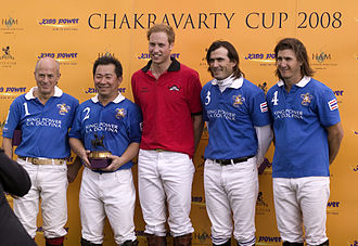 Ham Polo Club - Chakravarty Cup Presentation: Paul Barry, Vichai Raksriaksorn, HRH Prince William, Adolfo Cambiaso and Martin Valent