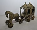 Chariot with Horse - Bronze - Circa 19th Century CE - ACCN 93-61 - Government Museum - Mathura 2013-02-24 6527.JPG