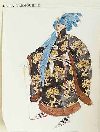 Charles Ricketts - Costume design for Tremouille in G. B. Shaw's play Saint Joan – Watercolour