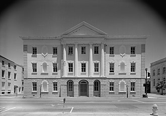 White House - Hoban's Charleston County Courthouse, Charleston, South Carolina, 1790–92, was admired by Washington.