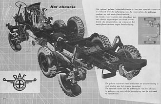 H-drive - DAF YA-328 ladder chassis, with outboard drive shafts