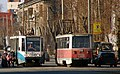 Chelyabinsk trams 71-608 number 2042 and 71-605 number 2008.jpg