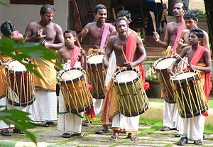 Percussion ensemble - A Thayambaka Chenda ensemble