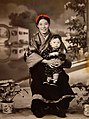 Cheng Kuande's Mother and Sister, Chengdu 1954.jpg