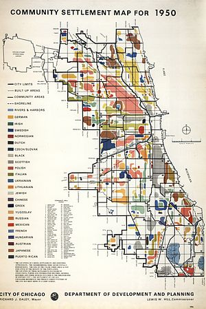 Demographics of Chicago - Demographics map of Chicago in 1950.