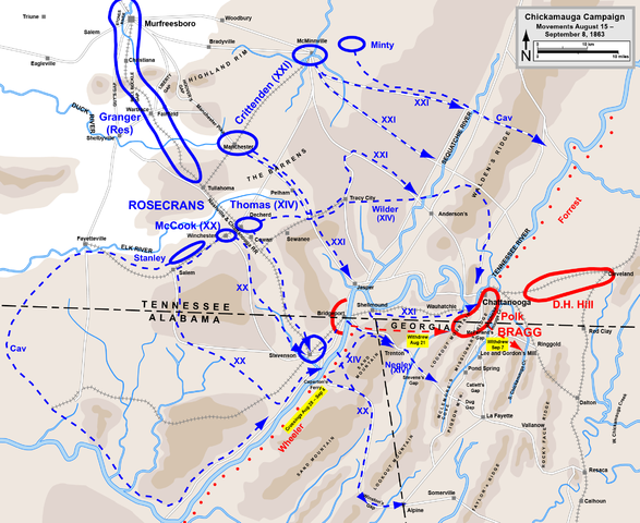 Map of Chickamauga