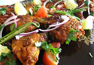 The cooked Chicken Tikka