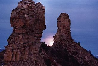 Chimney Rock National Monument - Major Lunar Standstill at Chimney Rock National Monument