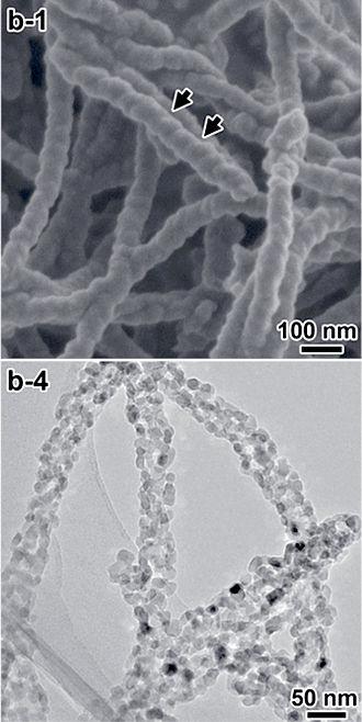 Titanium dioxide - Image: Chiral Ti O2 nanofibers 2