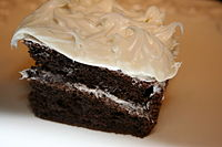 Chocolate cake with white icing.JPG