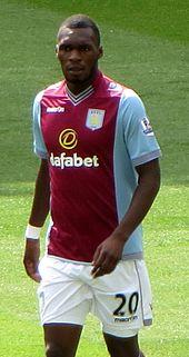 Benteke Playing For Aston Villa In