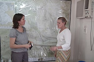 United Nations Office for the Coordination of Humanitarian Affairs - Christine Buchholz (German MdB) and Lise Grande (UN OCHA) in Juba, South Sudan