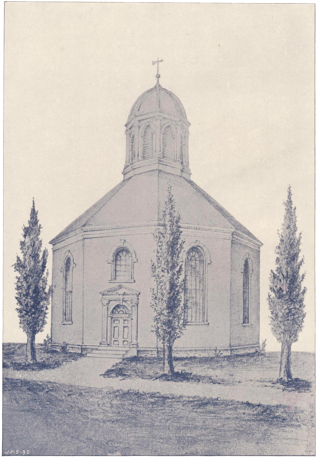 "Church, Page 350 (Sketch of the ""Old Round Church"" 1895).png"