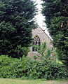 Church at Mashbury, Essex, England, church and yews from east 02.JPG