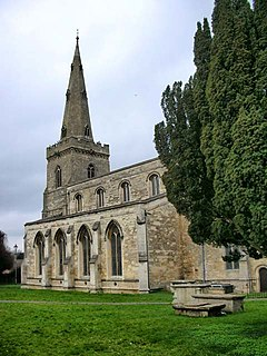 Thrapston town in Northamptonshire, England