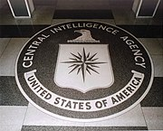 The 16-foot (5m) diameter CIA seal in the lobby of the Original Headquarters Building.