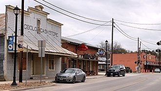 Cibolo, Texas - The old commercial district on Main Street.