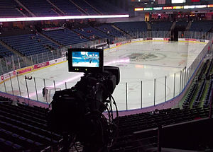 Ontario Reign (ECHL) - Citizens Business Bank Arena pre-game ice  in February 2013