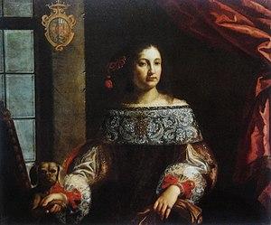 Pierfrancesco Cittadini - Portrait of Countess Simonetta Cavazzi della Somaglia (1660s) by Pierfrancesco Cittadini, Porczyński Gallery in Warsaw.