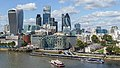 City of London skyline from London City Hall - Sept 2015 - Crop.jpg