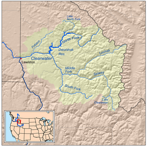 U.S. Route 12 in Idaho - Clearwater River drainage in north central Idaho