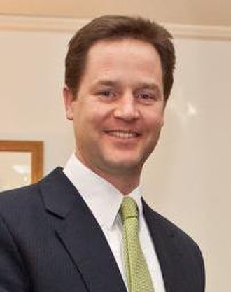 Liberal Democrats (UK) - Nick Clegg, leader from 2007 to 2015, and Deputy Prime Minister from 2010 to 2015