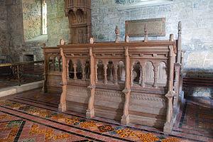 Ammonia fuming - Fumed oak choir stalls at Clonfert Cathedral, Ireland