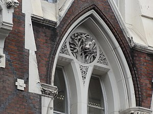 Boar's Head Inn - Close up, showing boar's head decoration