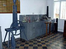 CO2-Komprimierer in Liebigs Privatlabor (Quelle: Wikimedia)