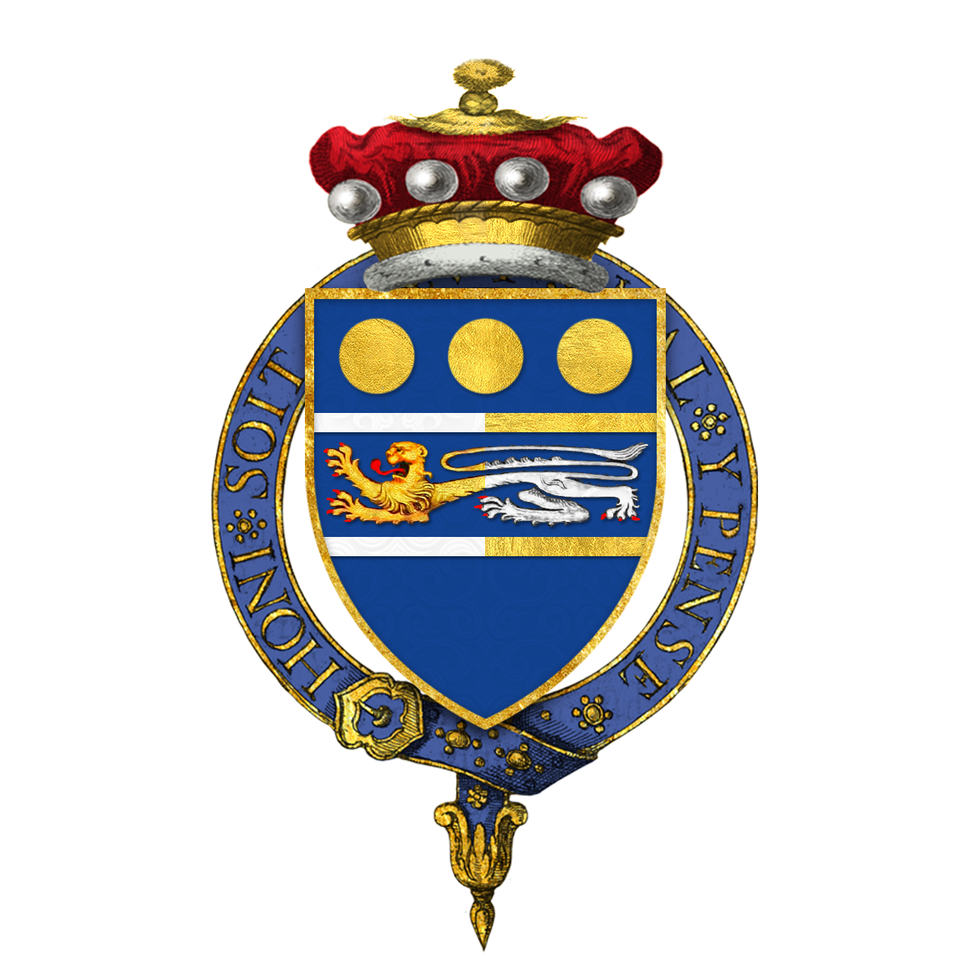 Coat of Arms of Charles Elworthy, Baron Elworthy, KG, GCB, CBE, DSO, LVO, DFC, AFC