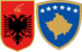 Coat of arms of Albania and Coat of arms of Kosovo.png