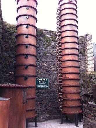 Column still - Coffey Still from Kilbeggan Distillery in County Westmeath in Ireland