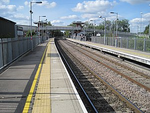 Coleshill Parkway railway station - Image: Coleshill Parkway railway station, Warwickshire, geograph 3827773 by Nigel Thompson