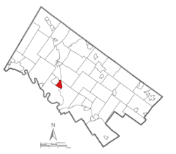 Location of Collegeville in Montgomery County, Pennsylvania.