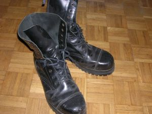 Combat boots are very popular for women to wea...