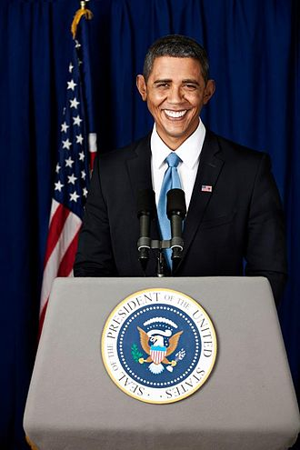 Reggie Brown (impersonator) - Reggie Brown in full makeup as President Obama