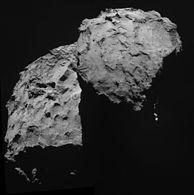 Comet 67P on 14 September 2014 NavCam mosaic