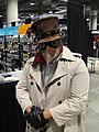 Comikaze Expo 2011 - steampunk guy with a leather beak (6325367006).jpg