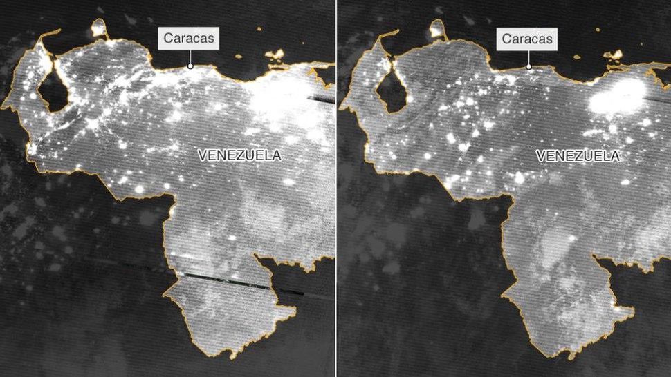 Comparative Blackout in Venezuela March 2019